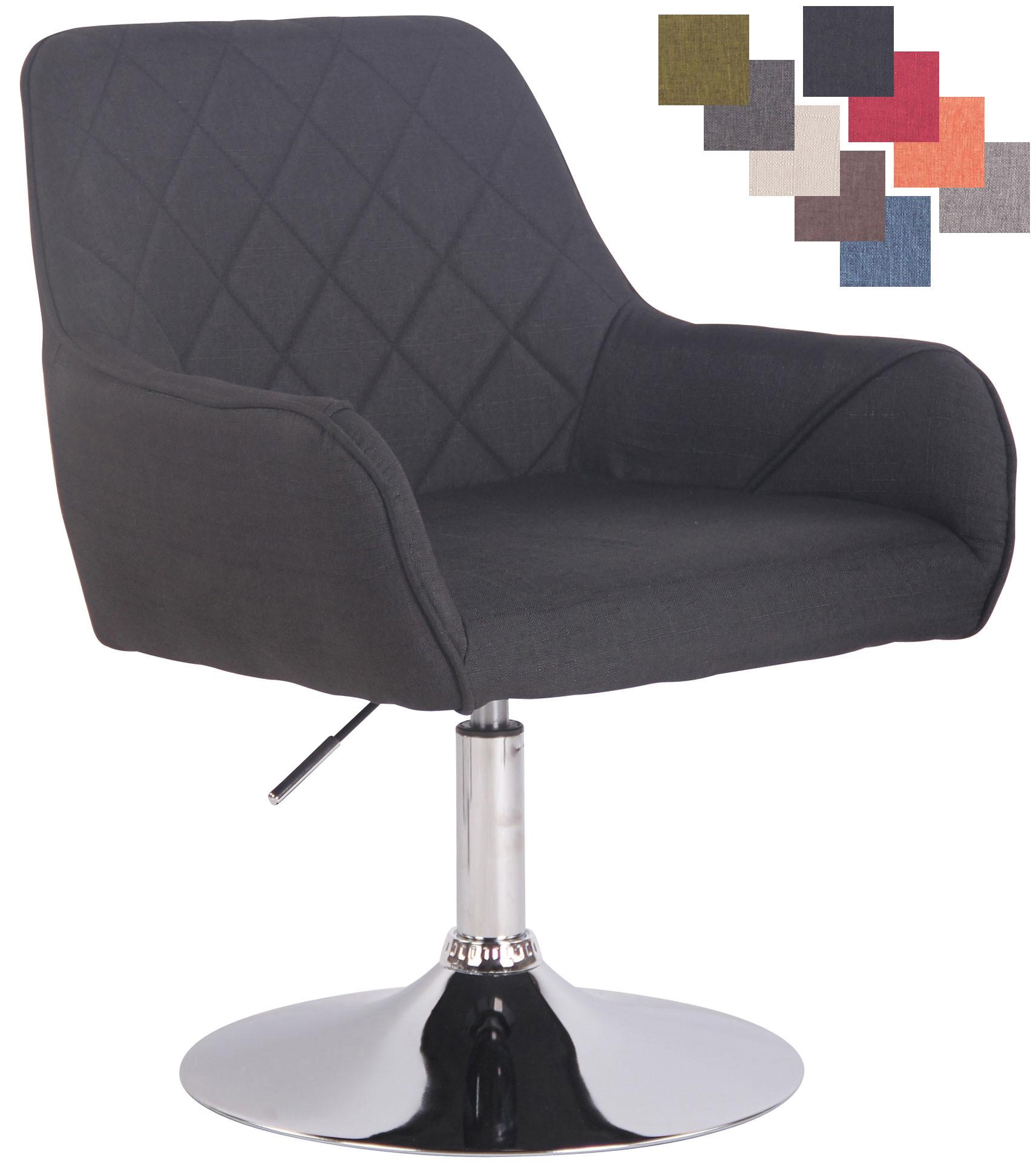 Dettagli su Poltrona Design Lounge Wellington Tessuto Sedia Cocktail Girevole 360° imbottita